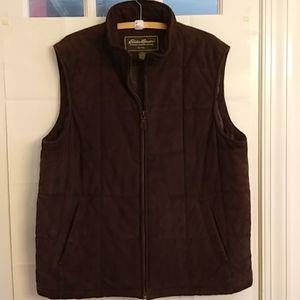 Eddie Bauer Men's Leather/Suede Vest Size XL